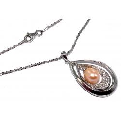 Collier argent 4g 40cm perles véritables