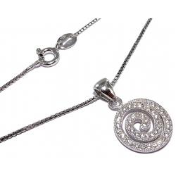 Collier argent rhodié 3,7g  40cm zircons