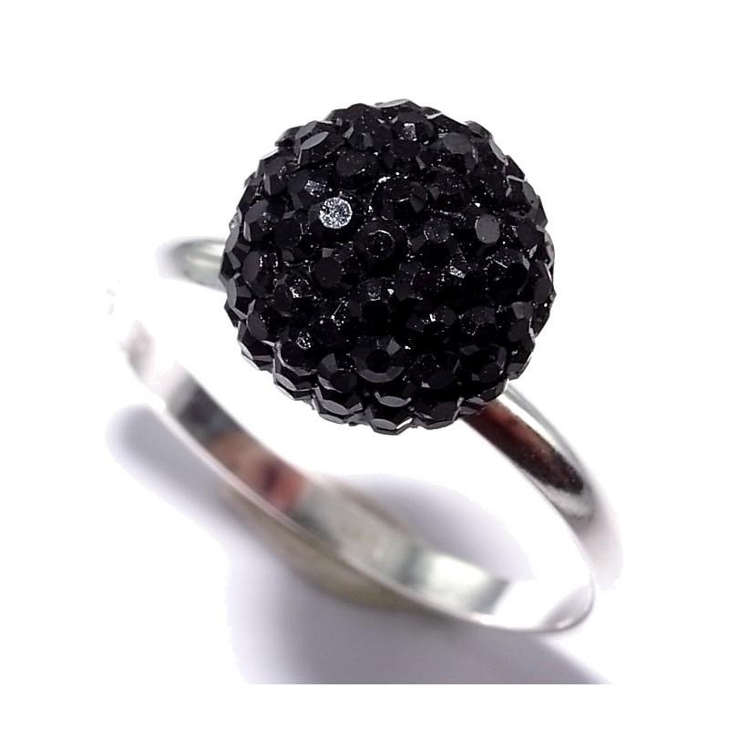 bague argent 0 9g taille 50 60 r sine noire les perles de v nus. Black Bedroom Furniture Sets. Home Design Ideas