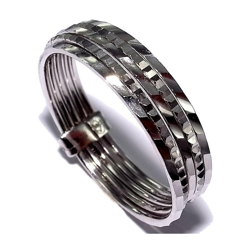 bague argent rhodi 1 8g taille 50 60 5 anneaux les perles de v nus. Black Bedroom Furniture Sets. Home Design Ideas