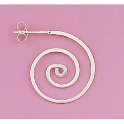 Bo argent 2.3g creoles spirales