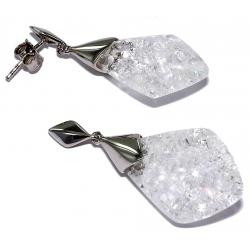 Bo argent bo argent rhodié 3,3g quartz cristal
