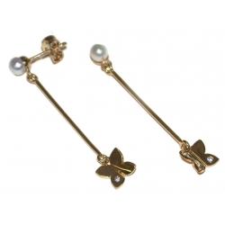 B.o plaquées or 3 microns zircon perle de rivière
