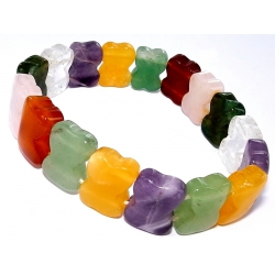 Bracelet élastique pierres véritables