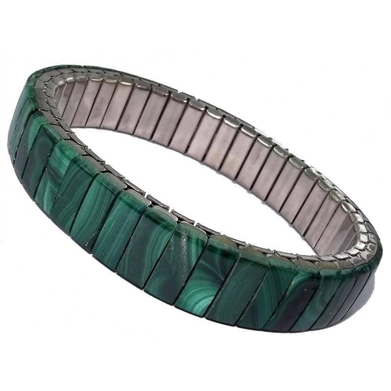 bracelets fantaisie bracelet lastique malachite v ritable les perles de v nus. Black Bedroom Furniture Sets. Home Design Ideas