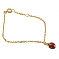 Bracelet plaqué or 3 microns 14+2cm