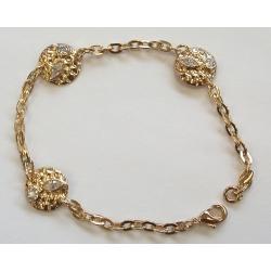 Bracelet plaqué or 3microns 18cm zircons