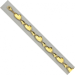Bracelet plaqué or 3 microns 19,5cm