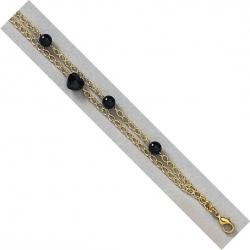 Bracelet plaqué or 19cm