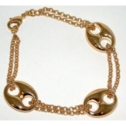 Bracelet plaqué or 3 microns 18,5cm