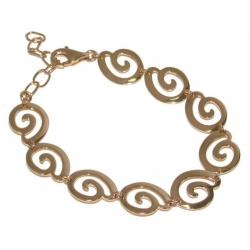 Bracelet plaqué or 17+4cm