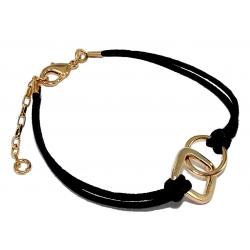 bracelet plaqué or 16+4cm coton