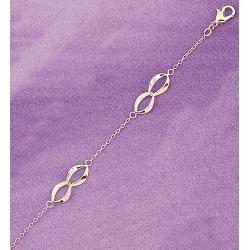 bracelet plaqué or 19cm avec zircons