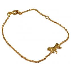 Bracelet plaqué or 18cm cheval