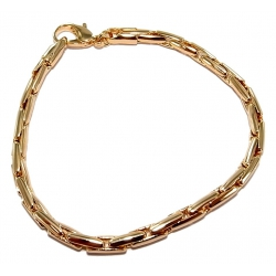 Bracelet plaqué or 19cm maille paloma