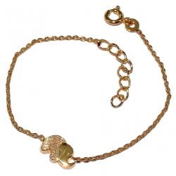 Bracelets po bracelet enfant plaqué or éléphant 14+2cm