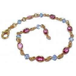 Bracelets po bracelet plaqué or 20cm cristal multicolore