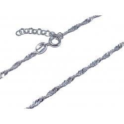 Chaine cheville argent 1.9 g 22+3 cm
