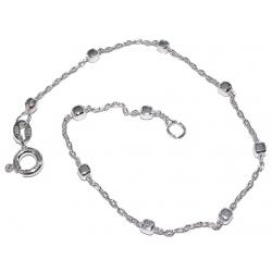 Bracelets argent chaîne cheville argent 2g 22+3cm
