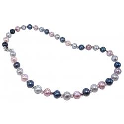 Collier argent rhodié 3g 42cm perles véritables