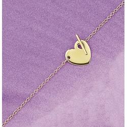 collier plaqué or 40cm coeur