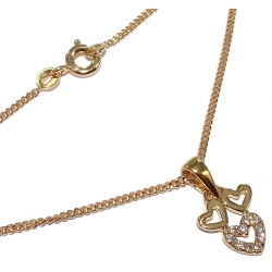 collier plaqué or 40 cm et zircons