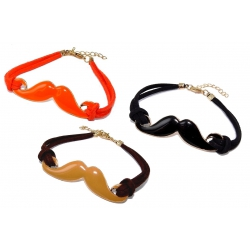 Lot de 3 bracelets moustache fl 337/338/339