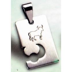 Pendentif acier taureau
