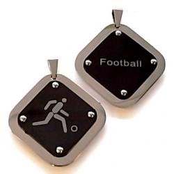 pendentif acier football