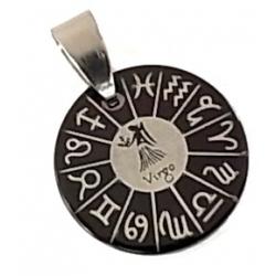 pendentif acier horoscope