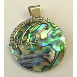 Pendentif argent 3g nacre abalone