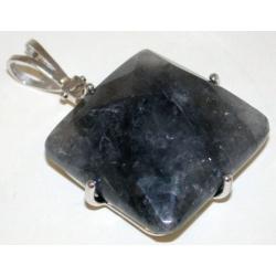 Pendentif argent 6g quartz gris