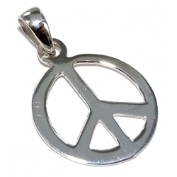 Pendentif 0,9g peace and love