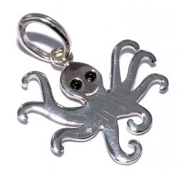 Pendentifs argent pendentif argent 0,9g pieuvre avec zircons