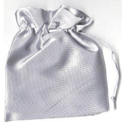 Lot de 144 pochettes satinees grises 12*12 cm