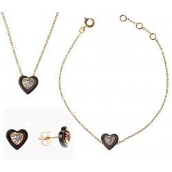 """Parure plaquée or """"cœur"""" PC 301 à 12,6€, PC 401 à 17,2€ et PC 501 à 14,2€"""
