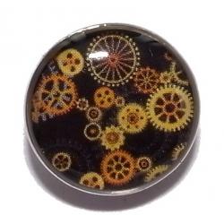 Bouton pression métal et epoxy rouages