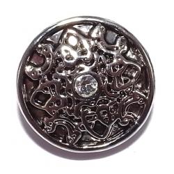 Bouton pression  métal et strass