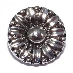 bouton pression fleur