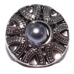 Bouton pression métal perle imitation