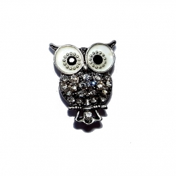 "Bouton pression ""hibou"" taille G"