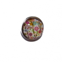 "Bouton pression ""fleurs"" taille G"