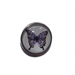 "Bouton pression ""papillon"" taille G"