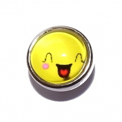 "Bouton pression ""smiley"" taille P"