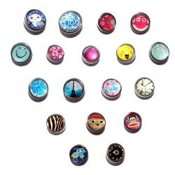 Lot de 18 boutons pressions taille P BQ 018 à BQ 035 à 0,6 €