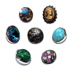 Lot de 7 boutons pressions taille G BP 067 à 070, BP 073/078/079 à 1,3€