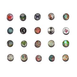Lot de 20 boutons pressions taille G BQ 016/017, BP090 à BP 099, BQ001à BQ 008