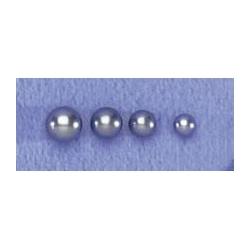 Prés 4prs BO argent 2g perles véritables gris foncé