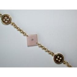 Bracelet plaqué or 3µ résine 18,5cm