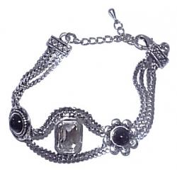 Bracelet fantaisie 18+5cm résine